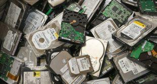 hard drives pile