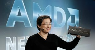 amd lisa su holds radeon instinct gpu